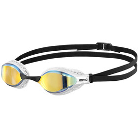 arena Airspeed Mirror Okulary pływackie, yellow copper/white